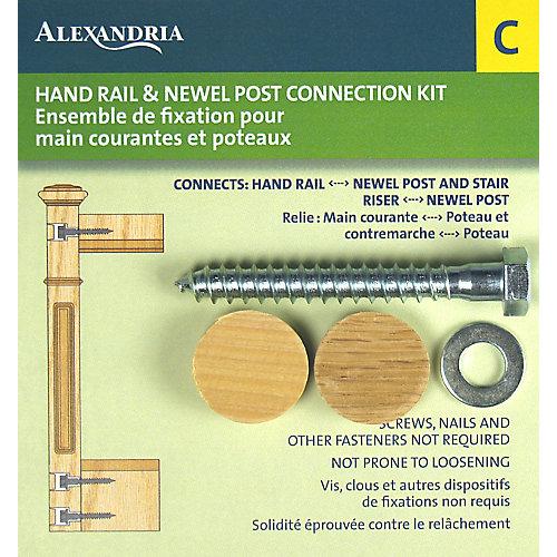 Fixation pour poteau de pilastre et main courante