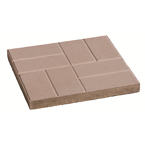 Brick Pattern 24-inch x 24-inch Slab in Grey