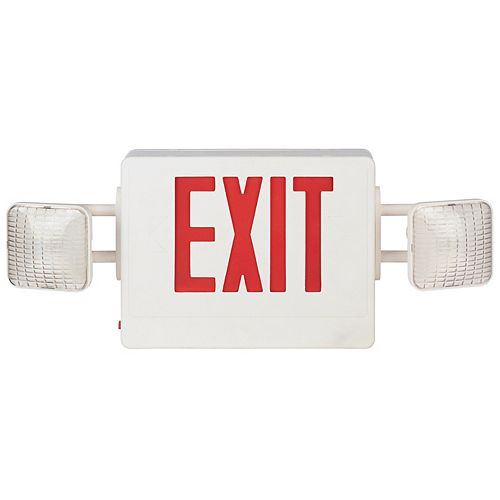 Hampton Bay Economy Combo Exit Sign & Emergency Light