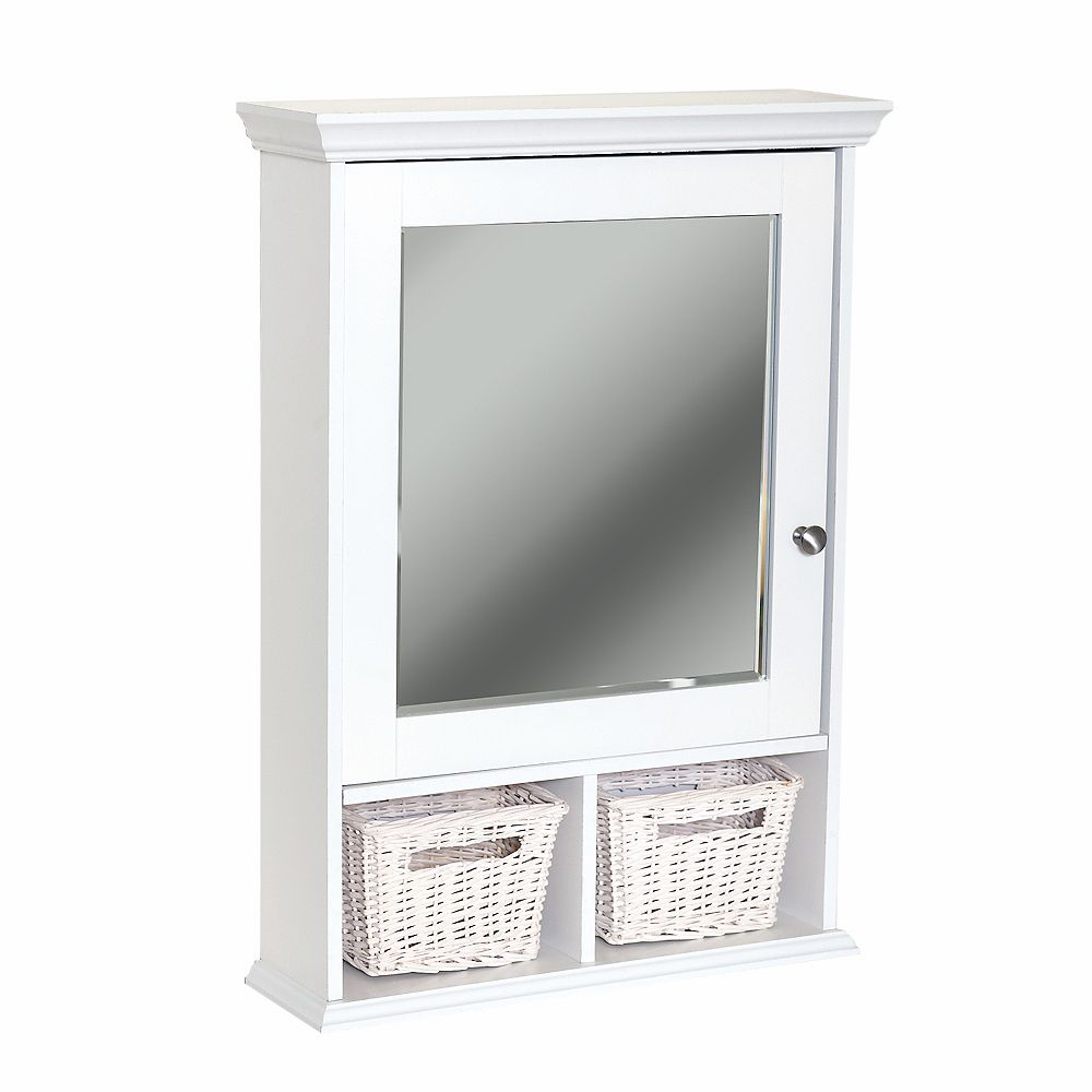 Zenith Products Wall Cubby Medicine Cabinet - White