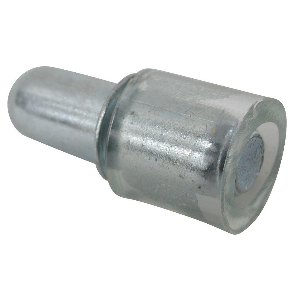 Richelieu (Paquet de 8) Support à tablette de verre, Alliage de zinc et Caoutchouc - 3/16 po (5 mm) - nickel