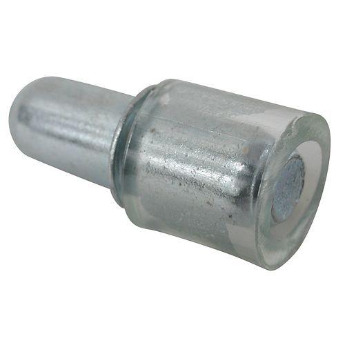 (Paquet de 8) Support à tablette de verre, Alliage de zinc et Caoutchouc - 3/16 po (5 mm) - nickel