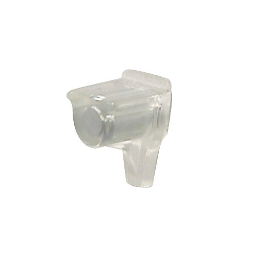 Clear Plastic Shelf Pin with Steel Pin - 5 mm