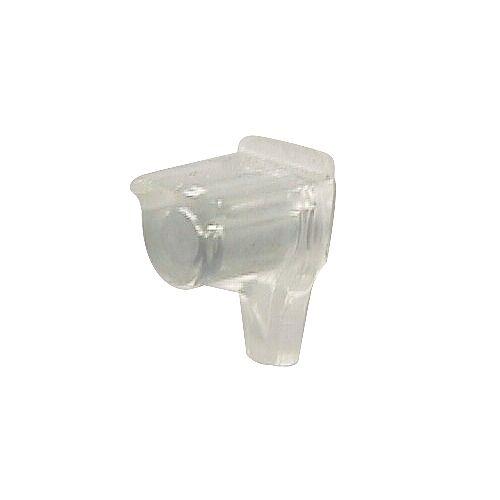 (Paquet de 8) Support à tablette en plastique - 3/16 po (5 mm) - transparent
