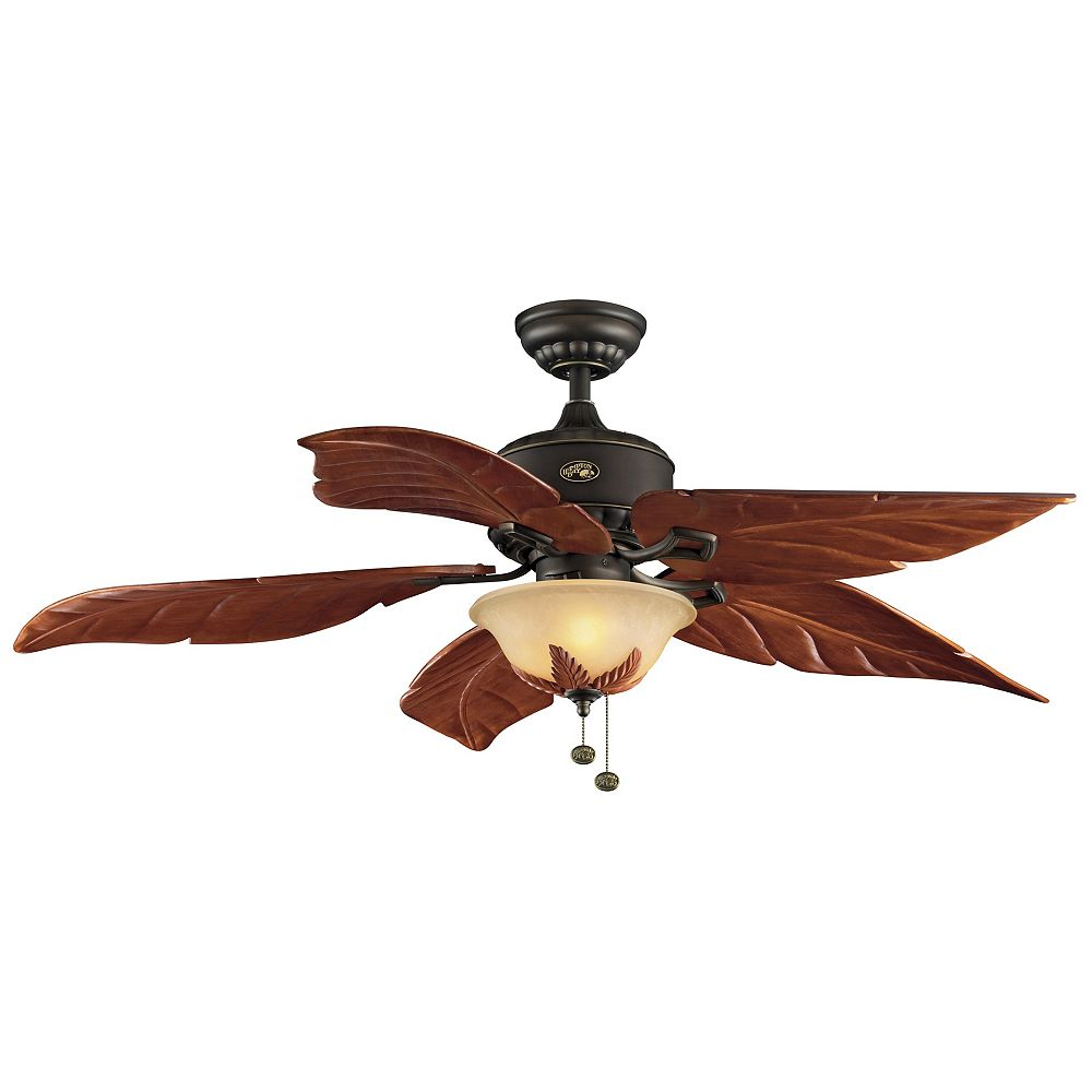 Hampton Bay Antigua Plus 56-inch LED Indoor Oil Rubbed Bronze Ceiling Fan with Light Kit