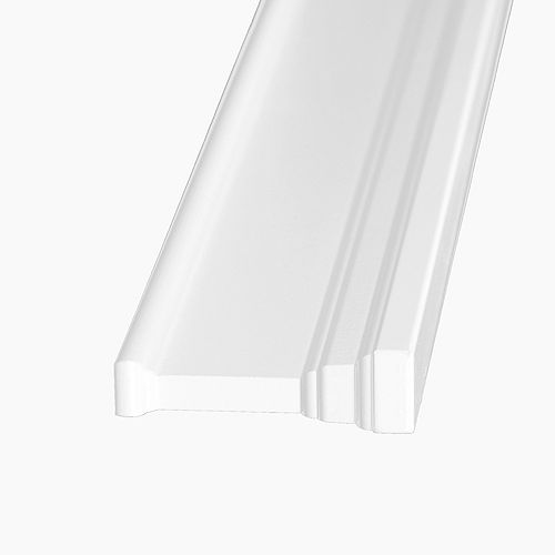 1 3/16-inch x 4 3/16-inch x 42-inch Primed Fibreboard Architrave Moulding