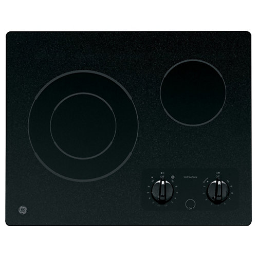 21-inch Radiant Electric Cooktop in Black with 2 Elements