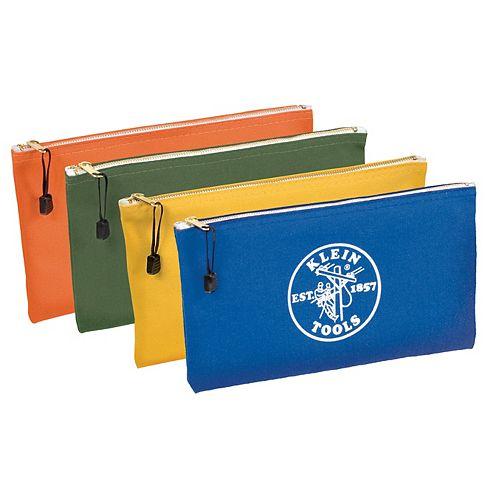 Coloured Canvas Zipper Bag - (4-Pack)