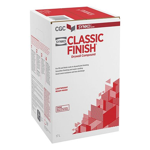 Classic Finish Drywall Compound, 17 L Carton