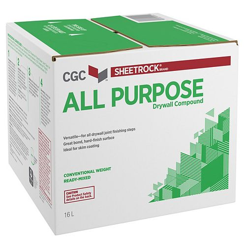 All Purpose Drywall Compound, Ready-Mixed, 16 L Carton