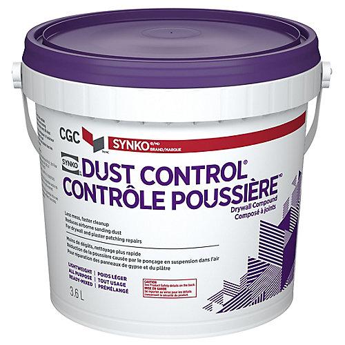 CGC DUST CONTROL Composé pour cloisons sèches, prêt à l'emploi, seau de 3,6 L