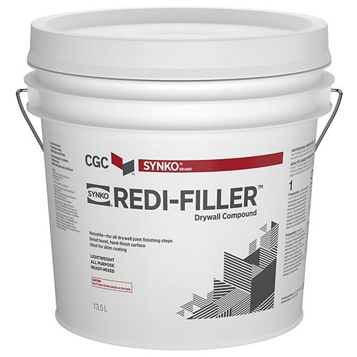 Redi-Filler All Purpose Drywall Compound, Ready Mixed, 13.5 L Pail