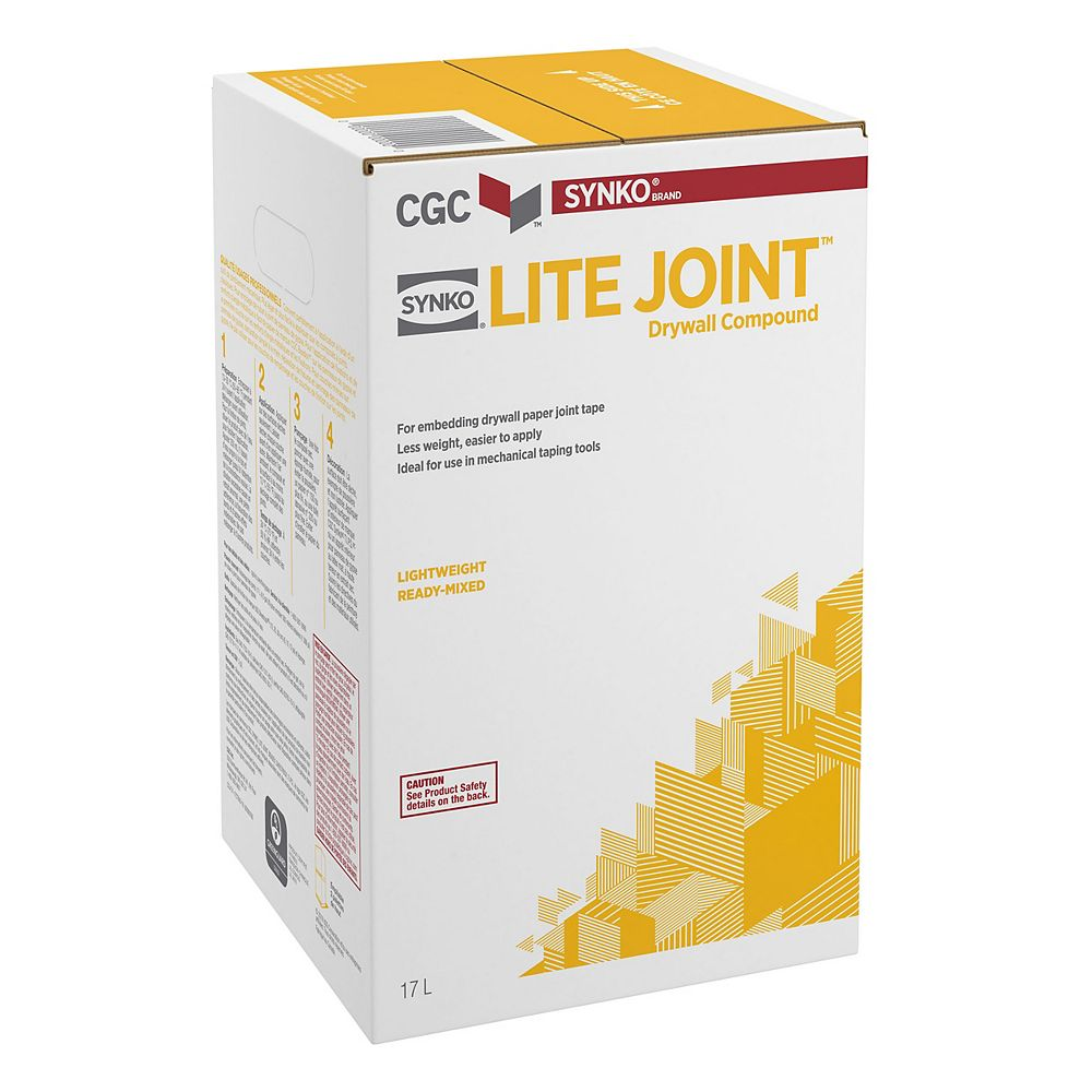 CGC Synko Lite Joint Drywall Compound, 17 L Carton
