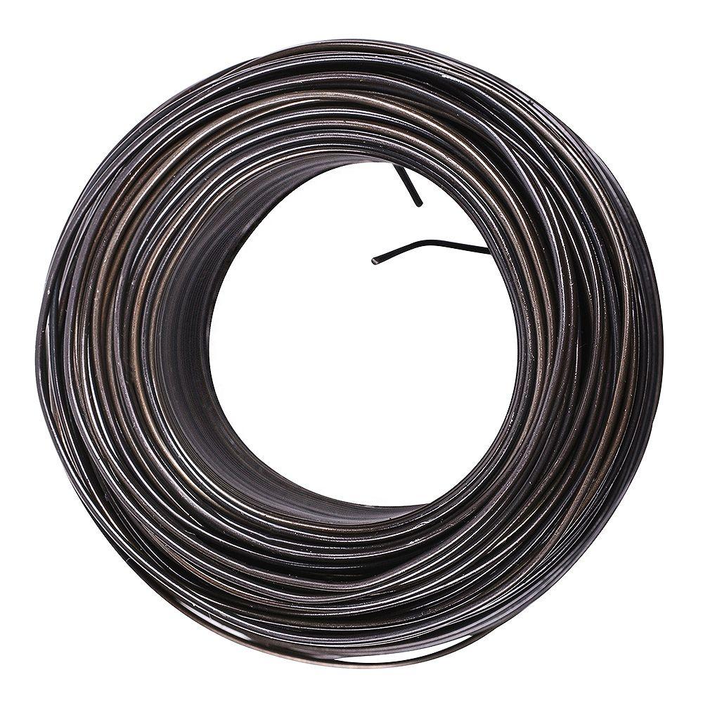 Worksavers 16-Ga. x 3-1/8-Lb Steel Tie Wire in Black - 1pk