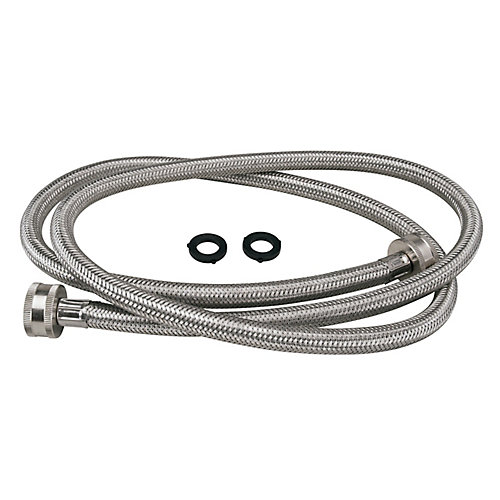 Washing Machine Hose - 5' Stainless Steel