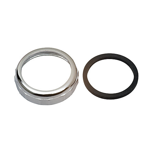"""1-1/2"""" Slip Joint Nut and Washer - Chrome"""