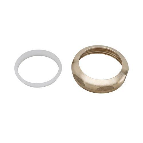 MOEN Écrou et rondelle de 1-1/2 pouce pour joint coulissant - Laiton