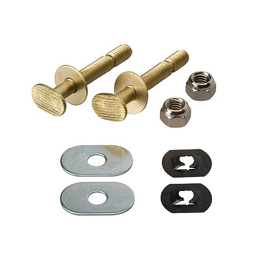 MOEN EZ Snap Toilet Floor Bolt Set  - Solid Brass