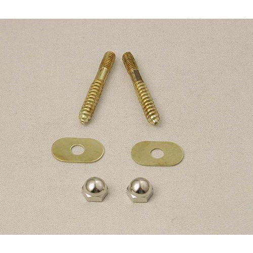 Toilet Floor Screw Set  - Solid Brass