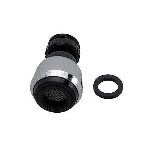 Aérateur double pivotant 1,5 GPM - Noir - Universel