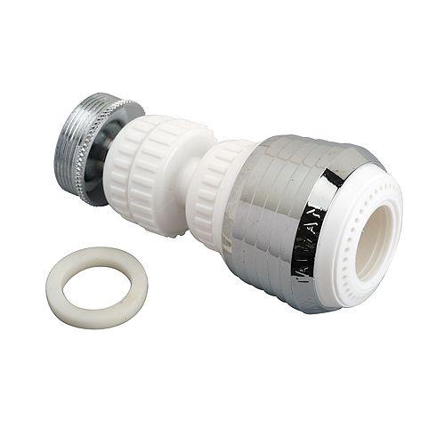 Aérateur pivotant double 360 - Blanc