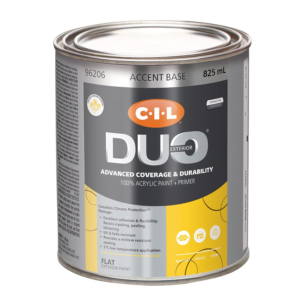 CIL Duo Exterior Flat - Accent Base 825 mL-96206