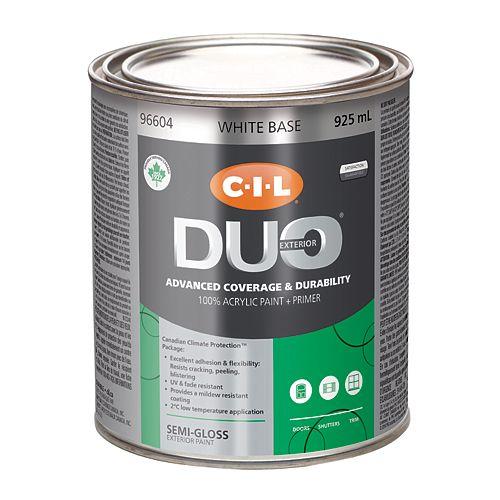 CIL Duo Exterior Semi-Gloss - White Base 925 mL-96604