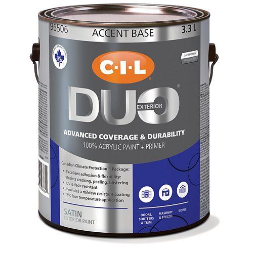 CIL Duo Peinture d'extérieur satiné - Base accent 3,3 L-96506