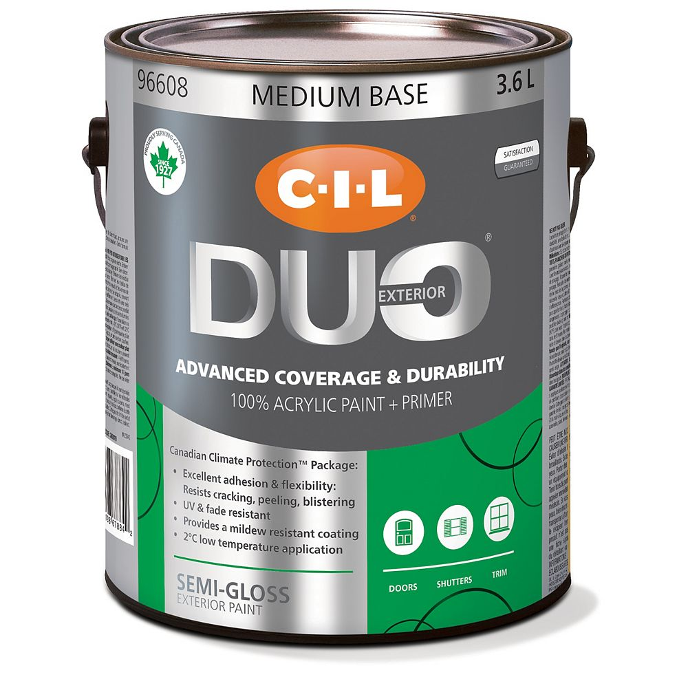 CIL Duo Exterior Semi-Gloss - Medium Base 3.6 L-96608