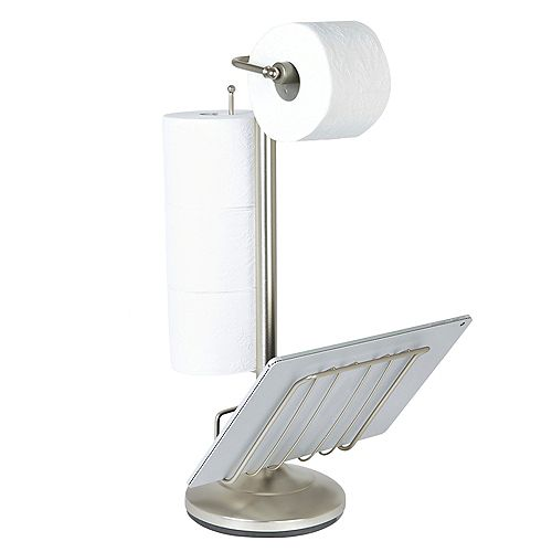 Better Living Toilet Caddy Satin Nickel