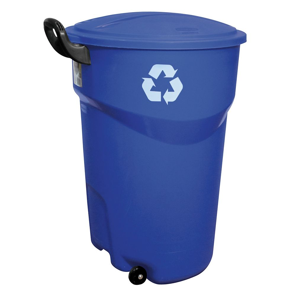 Rubbermaid 121 L (32-Gallon) Wheeled Recycle Trash Can