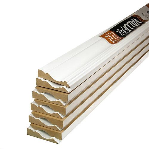 (10-Pack) 5/8-inch x 2 1/2-inch x 84-inch Colonial MDF Primed Fibreboard Casing ValuPAK