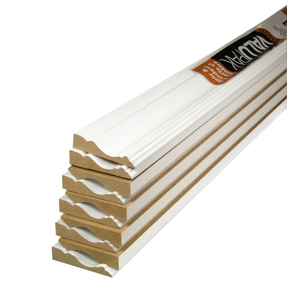 Alexandria Moulding (10-Pack) 5/8-inch x 2 1/2-inch x 84-inch Colonial MDF Primed Fibreboard Casing ValuPAK