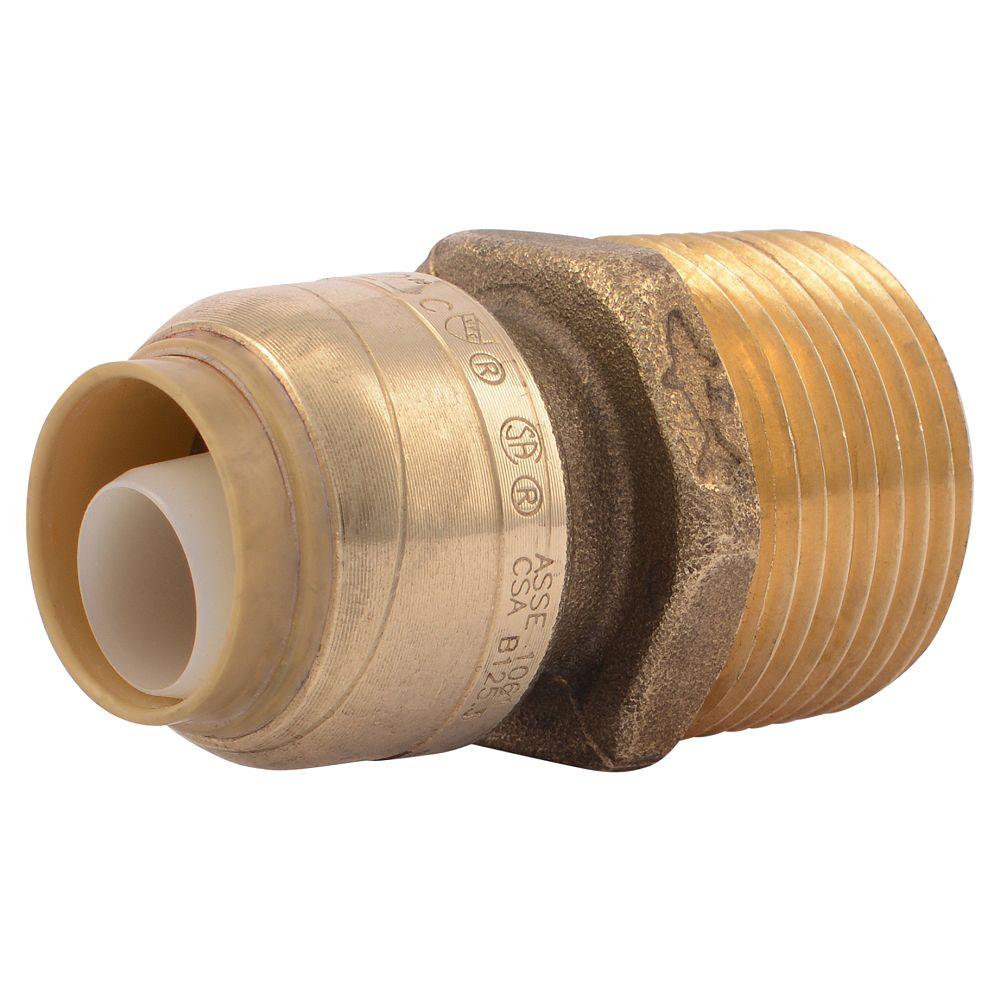 SharkBite Connector 1/2 inch X 3/4 inch MNPT