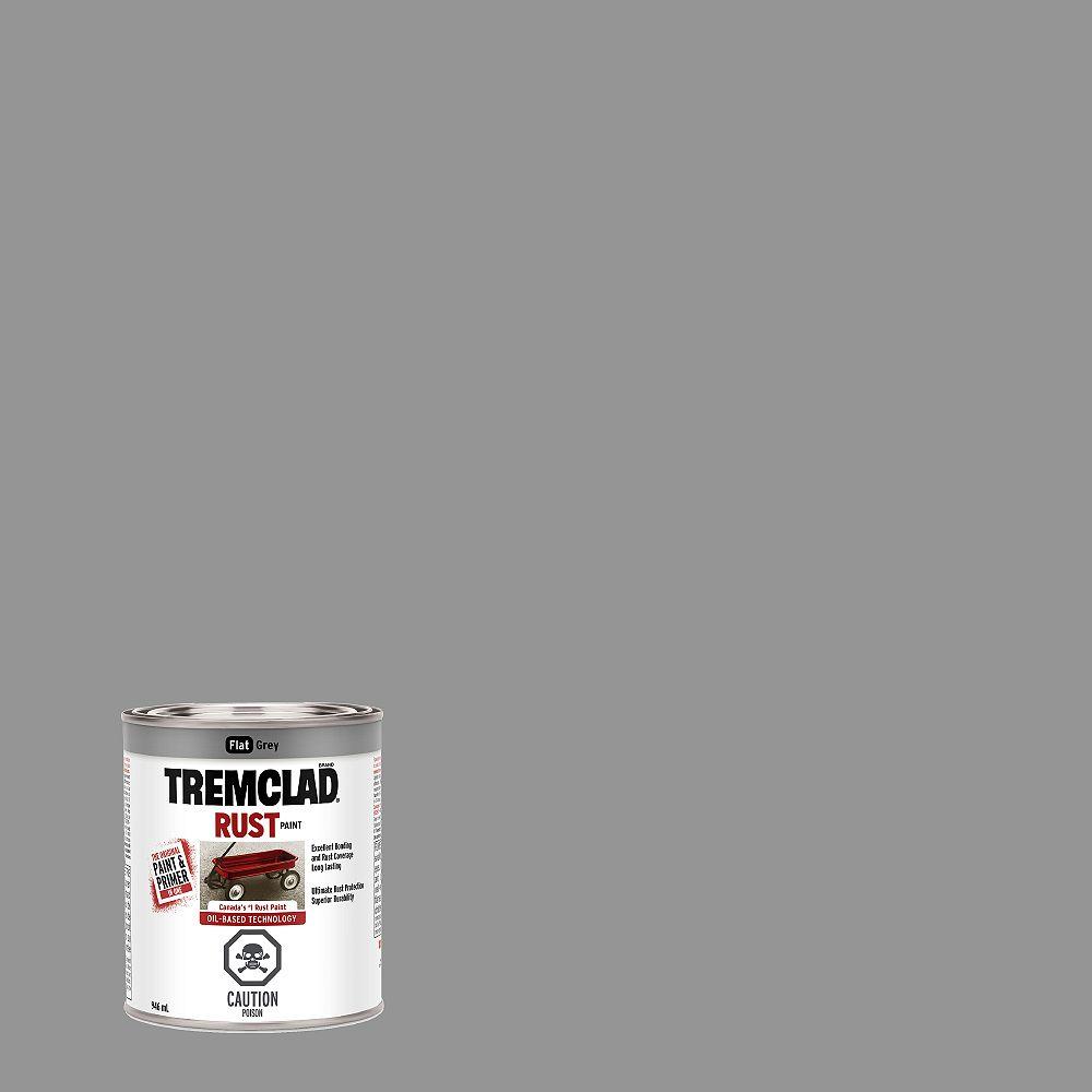 TREMCLAD Peinture Antirouille À Base D'Huile En Gris Mat - 946 mL