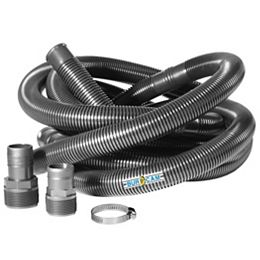 1 1/4 inch drain hose with adaptors for 1 1/4 and 1 1/2 inches pump discharge