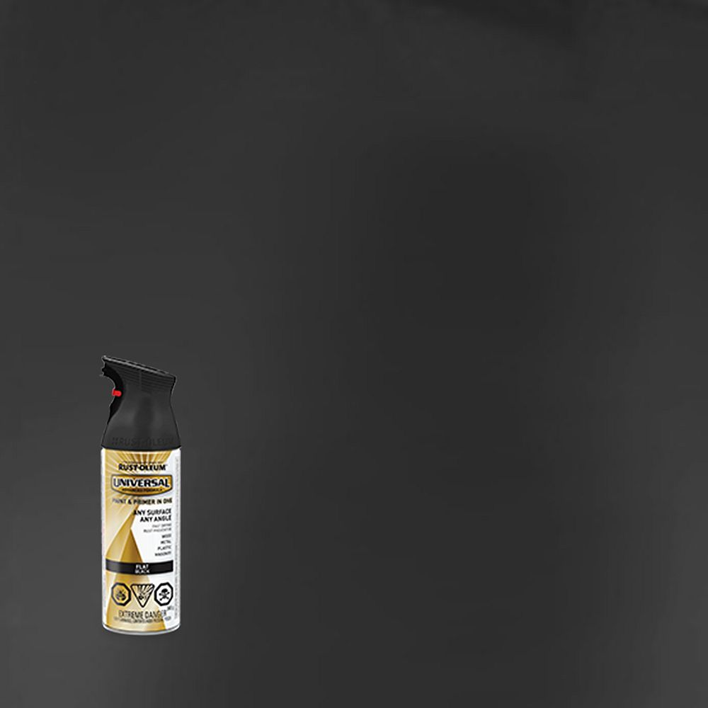 Rust-Oleum Universal Spray Paint And Primer in One in Flat Black, 340 G Aerosol Spray Paint