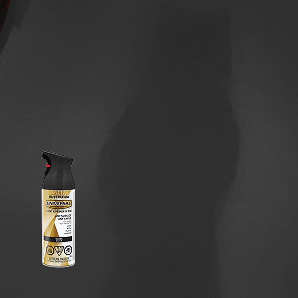Rust-Oleum Universal Spray Paint And Primer in One in Gloss Black, 340 G Aerosol