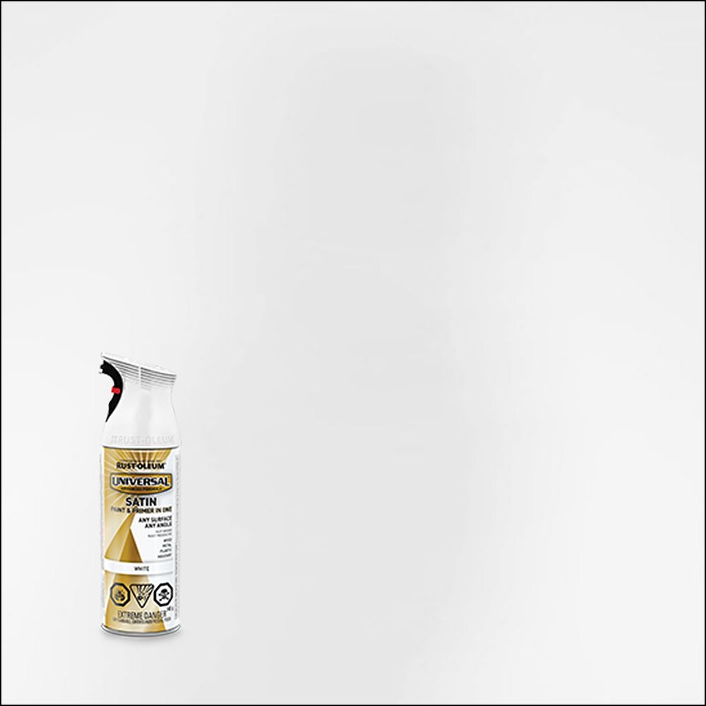 Rust-Oleum Universal Spray Paint And Primer in One in Satin White, 340 G Aerosol