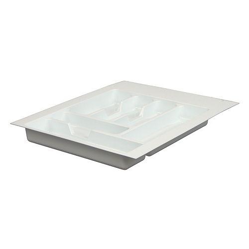 Real Solutions Casier à ustensiles qui s'adapte aux tiroirs de 15 po. à 18 po. (38,1cm à 45,7cm) de largeur.
