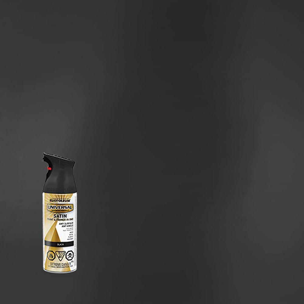 Rust-Oleum Universal Peinture Et Apprêt En Un Seul Produit En Noir Satiné - 340 G Aerosol