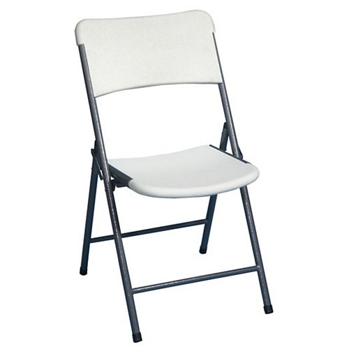 Blow Molded Folding Outdoor Chair in White