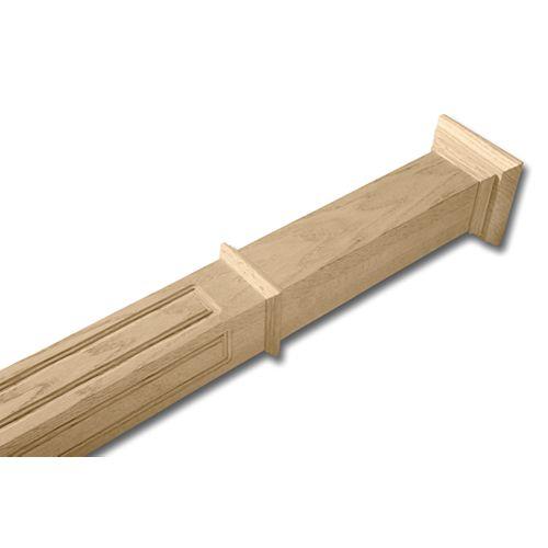 Poteau de chêne inachevé de 2 7/8 pouces x 2 7/8 pouces x 49 pouces