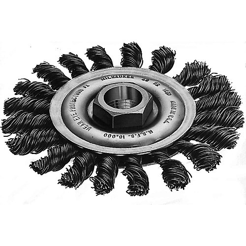 4-inch Full Cable Twist Knot Wheel in Carbon Steel