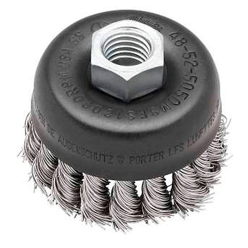3-inch Hyperwire Knot Wire Cup Brush in Stainless Steel