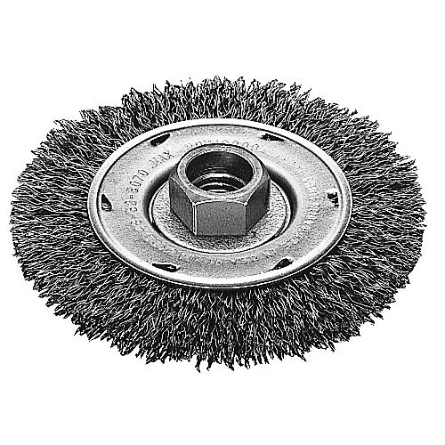 4-inch Radial Crimped Wheel in Carbon Steel