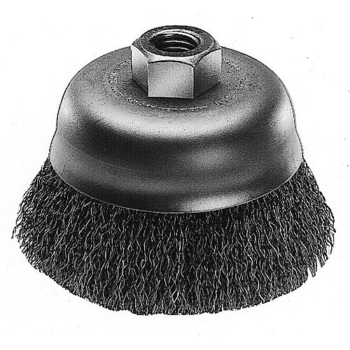 3-inch Hyperwire Crimped Wire Cup Brush in Carbon Steel