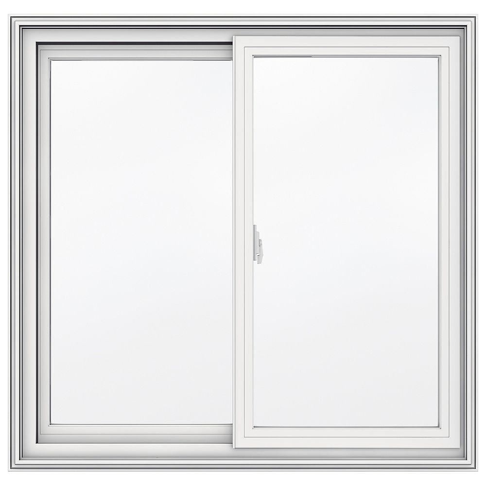 JELD-WEN Windows & Doors SÉRIE 5000 Coulissante en vinyle 36 po x 35 po - Faible émissivité - ENERGY STAR®