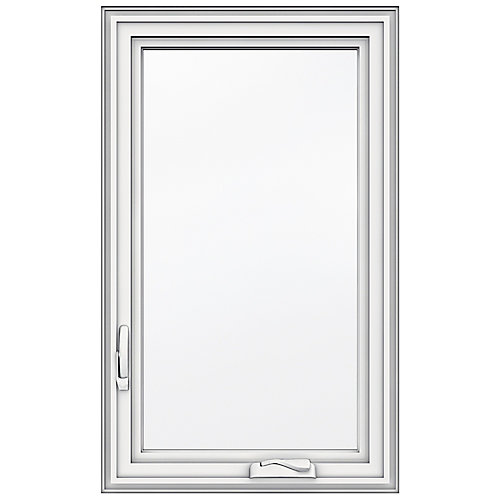 23-inch x 38-inch 5000 Series Vinyl Left Handed Casement Window with 3 1/4-inch Frame - ENERGY STAR®