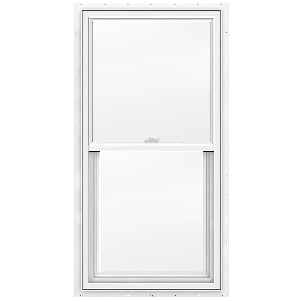 JELD-WEN Windows & Doors SÉRIE 3500 Guillotine simple en vinyle 24 po x 48 po - Faible émissivité - ENERGY STAR®
